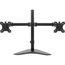 """Fellowes Professional Series Dual Horizontal Monitor Arm - Up to 27"""" Screen Support - 7.98 kg Load Capacity35"""" (889 mm) Width - Freestanding - Black"""