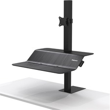 "Fellowes Lotusâ""¢ VE Sit-Stand Workstation - Single - 1 Display(s) Supported - 11.34 kg Load Capacity"
