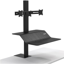 "Fellowes Lotusâ""¢ VE Sit-Stand Workstation - Dual - 2 Display(s) Supported - 15.88 kg Load Capacity"