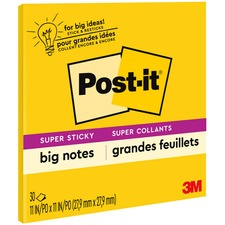 MMM BN11 3M Post-it Super Sticky Big Notes MMMBN11