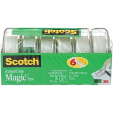 """Scotch Magicâ""""¢ Gift Craft Tape, M850-6MP-ESF, 0.75 in x 23.6 yd - 2 ft (0.6 m) Length x 0.75"""" (19.1 mm) Width - 6 / Pack"""