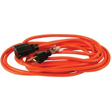Woods Power Extension Cord - 125 V AC / 13 A - Orange - 49.2 ft Cord Length - 1
