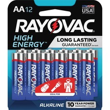 RAY 81512K Rayovac Alkaline AA Batteries RAY81512K