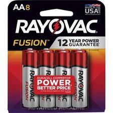 RAY 8158TFUSK Rayovac Fusion Advanced Alkaline AA Batteries RAY8158TFUSK