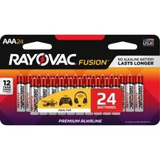 RAY 82424LTFUSK Rayovac Fusion Alkaline AAA Batteries RAY82424LTFUSK