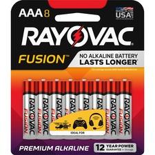 RAY 8248TFUSK Rayovac Fusion Alkaline AAA Batteries RAY8248TFUSK