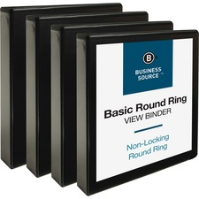 BSN09954BD - Business Source Round Ring View Binder