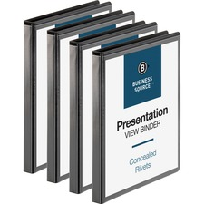 BSN09979BD - Business Source Standard View Round Ring Binders