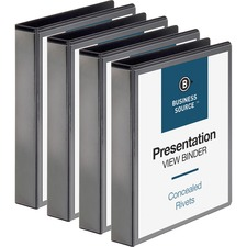 BSN09982BD - Business Source Standard View Round Ring Binders