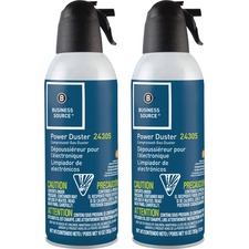 Business Source Power Duster - 283.5 g - Moisture-free, Ozone-safe - 2 / Pack - Multi