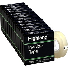 MMM 6200121296BX 3M Highland Matte-finish Invisible Tape MMM6200121296BX