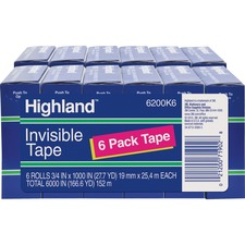 MMM 6200341000BD 3M Highland Economy Invisible Tape MMM6200341000BD