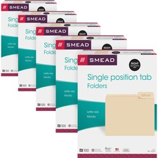 SMD10333CT - Smead 1/3 Tab Cut Letter Recycled Top Tab File Folder