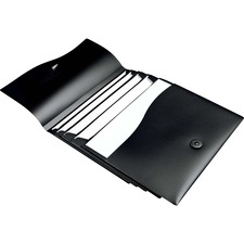 """Avery® Slide & View Letter Expanding File - 8 1/2"""" x 11"""" - 40 Sheet Capacity - 5 Pocket(s) - Poly - Black - 1 Each"""