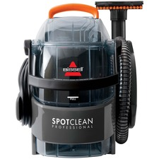 "BISSELL SpotClean Professional Portable Deep Cleaning System 3624C - 2.84 L Water Tank Capacity - Stain Tool, Stair Tool, Hose - Carpet - 22 ft Cable Length - 60"" (1524 mm) Hose Length - AC Supply - 5.70 A - Titanium, Samba Orange"