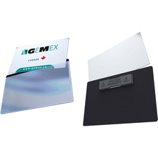 Gemex Deluxe Magnetic Name Badges - 20 / Box - Clear