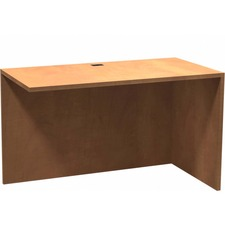 """Heartwood Innovations Sugar Maple Laminated Desk Suites - 1"""" Top, 47.5"""" x 23.8"""" x 29"""" - Material: Wood Grain Top, Particleboard Top, Polyvinyl Chloride (PVC) Edge - Finish: Sugar Maple, Thermofused Laminate (TFL) Top"""