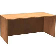 """Heartwood Innovations Sugar Maple Laminated Desk Shell - 65"""" x 29.5"""" x 29"""" , 1"""" Top - Material: Wood Grain Top, Particleboard Top, Polyvinyl Chloride (PVC) Edge - Finish: Sugar Maple, Thermofused Laminate (TFL) Top"""