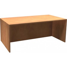 """Heartwood Innovations Sugar Maple Laminated Desk Shell - 71"""" x 35.5"""" x 29"""" , 1"""" Top - Material: Wood Grain Top, Particleboard Top, Polyvinyl Chloride (PVC) Edge - Finish: Sugar Maple, Thermofused Laminate (TFL) Top"""