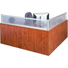 Heartwood Innovations Reception Desk Panel/Post - Polycarbonate - Aluminum - 1 Each