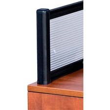 Heartwood Innovations Reception Desk Panel/Post - Polycarbonate - Black - 1 Each