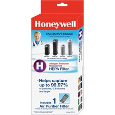 Honeywell Allergen Remover HEPA Air Filter - HEPA - For Air Purifier - Remove Dust, Remove Smoke, Remove Odor, Remove Allergens - 95% Particle Removal Efficiency - 0.08 mil (0 mm) Particles