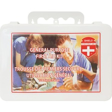 "Impact Products Shield General Purpose First Aid Kit - 128 x Piece(s) - 7.25"" (184.15 mm) Height x 10.50"" (266.70 mm) Width x 3"" (76.20 mm) Depth Length - 1 Each"