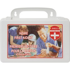 "Impact Products Home First Aid Kit in Box - 87 x Piece(s) - 5.50"" (139.70 mm) Height x 8.25"" (209.55 mm) Width x 2.75"" (69.85 mm) Depth Length - 1 Each"