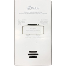 Kidde Carbon Monoxide Alarm - Gas Detection - Wall Mount - White