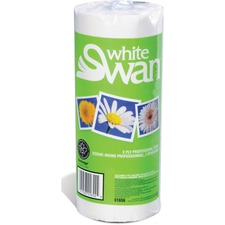 """White Swan Professional Paper Towels - 2 Ply - 11"""" x 8.3"""" - 70 Sheets/Roll - White - Absorbent, Anti-contamination, Individually Wrapped - For Hand, Kitchen, Window - 30 rolls / Carton"""