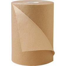 "Metro Paper Roll Kraft Towels - 1 Ply - 8"" x 425 ft - Brown - Kraft - 12 / Carton"