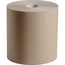 "Esteem Roll Kraft Towels - 1 Ply - 8"" x 800 ft - Brown - Kraft - 6 / Carton"
