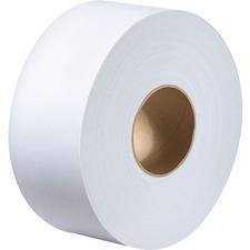 "Metro Paper Jumbo Roll 2 Ply Bathroom Tissue - 2 Ply - 3.3"" x 1000 ft - White - Soft - For Washroom - 12 / Carton"