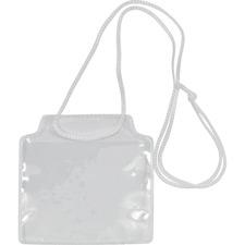 Merangue Name Badge Holder - Plastic - 10 / Pack - Clear
