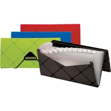 Pendaflex 13-pocket Cheque File - 13 Pocket(s) - Polypropylene - Assorted - 1 Each