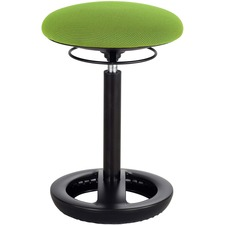 Safco TWIXT Desk-Height Active Seating Chair - Nylon, Vinyl, Polypropylene, Polyester Seat - Rounded Base - Green - 1 Each