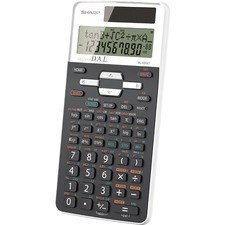 "Sharp EL-520XTBBK Scientific Calculator - 272 Functions - 10 Digits - Battery/Solar Powered - 0.6"" x 3.3"" x 5.3"" - Black - 1 Each"