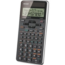 "Sharp EL-520XTBBK Scientific Calculator - 469 Functions - 10 Digits - Battery/Solar Powered - 0.6"" x 3.3"" x 5.3"" - Black - 1 Each"