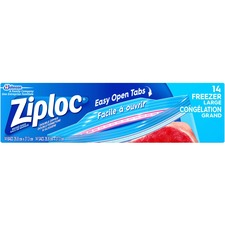Ziploc® Gallon Freezer Bags - Large Size - 3.79 L - 2.70 mil (69 Micron) Thickness - Multi - 14/Box - Food, Meat, Poultry, Soup, Seafood