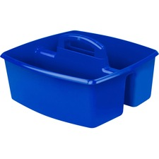"Storex Classroom Caddy - 6.4"" Height x 11"" Width - Tabletop - Blue - Plastic - 1Each"