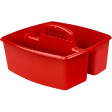 "Storex Classroom Caddy - 6.4"" Height x 11"" Width - Tabletop - Red - Plastic - 1Each"