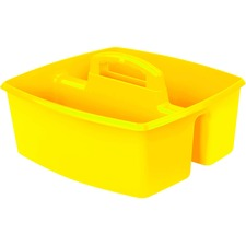 "Storex Classroom Caddy - 6.4"" Height x 11"" Width - Tabletop - Yellow - Plastic - 1Each"