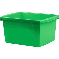 Storex Storage Case - 15 L - Stackable - Plastic - Green - For Tool, Classroom Supplies - 1 Each