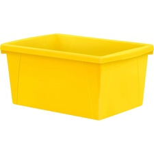 Storex Teal 5.5 Gallon Storage Bins - 21 L - Stackable - Plastic - Yellow - For Book, Tool, Classroom Supplies - 1 Each