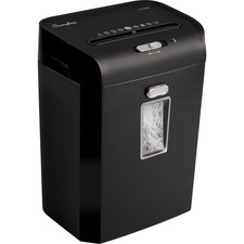 Swingline ES12-06 Strip Cut Shredder - Strip Cut - 12 Per Pass - for shredding Junk Mail, Paper - Black