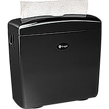 "Kruger NOIR Multifold CounterTop Dispenser - Touchless Dispenser - 10.40"" (264.16 mm) Height x 10.60"" (269.24 mm) Width x 4.10"" (104.14 mm) Depth - Black - Hands-free, Refill Indicator"