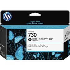 HP 730 (P2V67A) Ink Cartridge - Photo Black - Inkjet - 1 Each