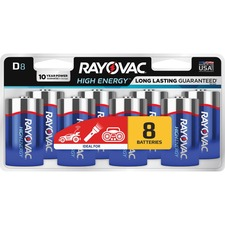 RAY 8138LKCT Rayovac Alkaline D Batteries RAY8138LKCT