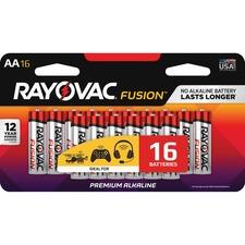 RAY 81516LTFUSK Rayovac Fusion Advanced Alkaline AA Batteries RAY81516LTFUSK