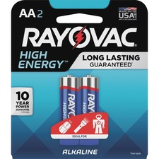 RAY 8152K Rayovac High Energy Alkaline AA Batteries RAY8152K